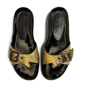 Donald J Pliner Slip On Soft Snake Sandal Shoes